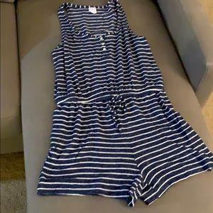 STARS ABOVE pajama romper navy/white size L